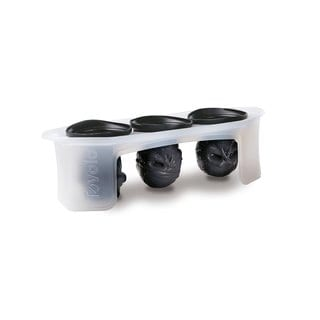 Tovolo Black/Clear Silicone Set of 3 Skull Ice Molds