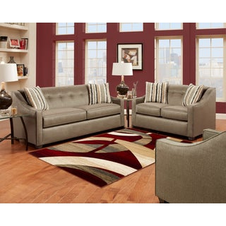 Sofa Trendz 'Bonita' Pewter/ Beige Sofa and Loveseat Set