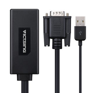 VGA To HDMI 1080p Audio Video Adapter Converter Cable