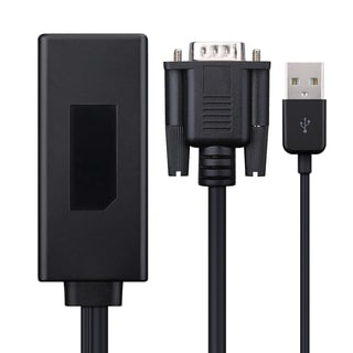 VGA To HDMI 1080p Black Audio Video Cable Adapter Converter