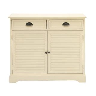 Swanky Natural White Wood Sideboard
