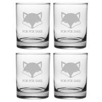 For Fox Sake Rocks Glass (Set of 4)