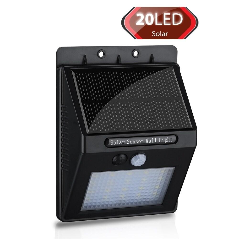 Coutlet 20 LED 400lm Black ABS/Plastic Solar-panel-powere...