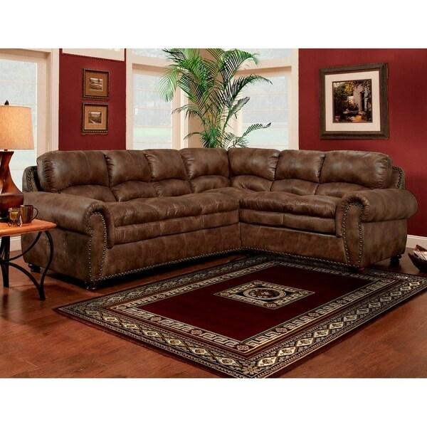Shop Sofa Trendz Brown Synthetic Leather Air Sectional