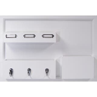 Wood Wall Organization Board With Multiple Pockets and Key Hooks|https://ak1.ostkcdn.com/images/products/11964466/P18849349.jpg?impolicy=medium