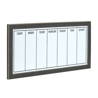 Black-framed Magnetic Weekly Calendar Dry Erase Board (3 options available)