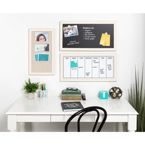 Black-framed Magnetic Weekly Calendar Dry Erase Board