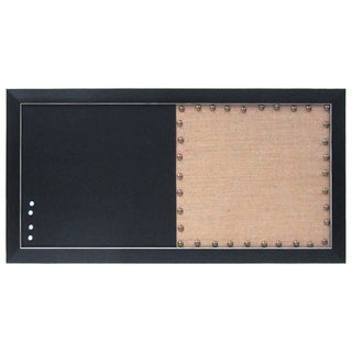 Black-framed Burlap Pinboard and Chalkboard