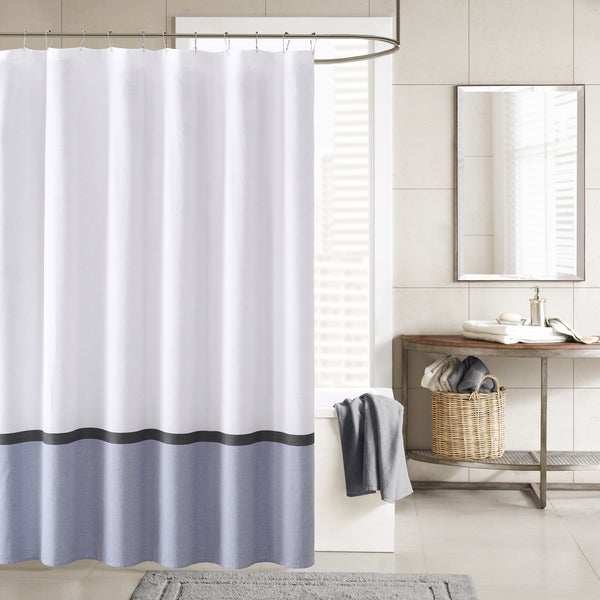 INK+IVY Hudson Chambray Shower Curtain 2-Color Option - 18849360 ...