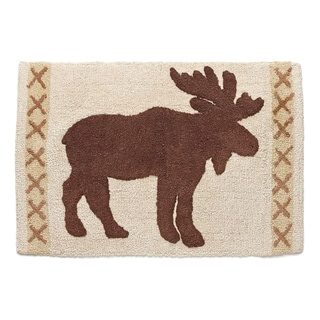 Pine Lodge Cotton Bath Rug (20 inches x 30 inches)