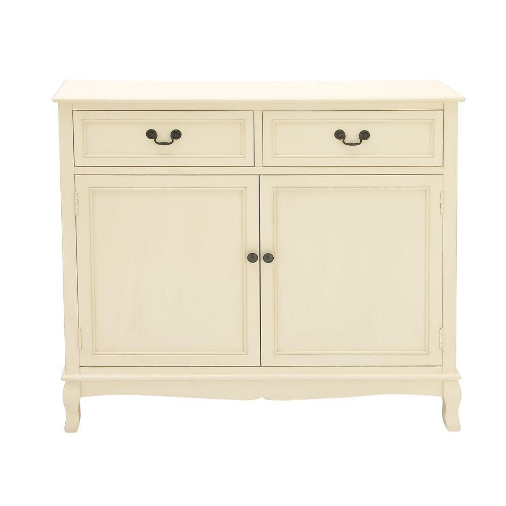 White Wood Storage Sideboard