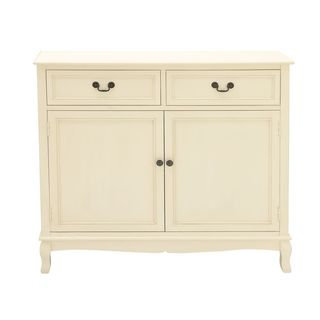 White Wood Storage Sideboard