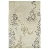 Hand-Tufted Wool & Viscose Anastasia Beige Rug - 8' x 11'