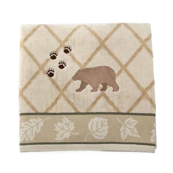 Pine Lodge Beige 100-percent Cotton Bath Towel