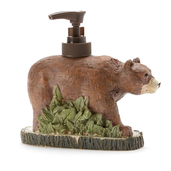 Pine Lodge Hand-crafted Brown Bear Lotion/Soap Pump