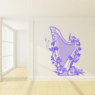 Harp Vinyl Wall Decal