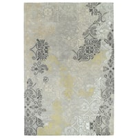 Hand-Tufted Wool & Viscose Anastasia Grey Rug (2'0 x 3'0) - 2' x 3'