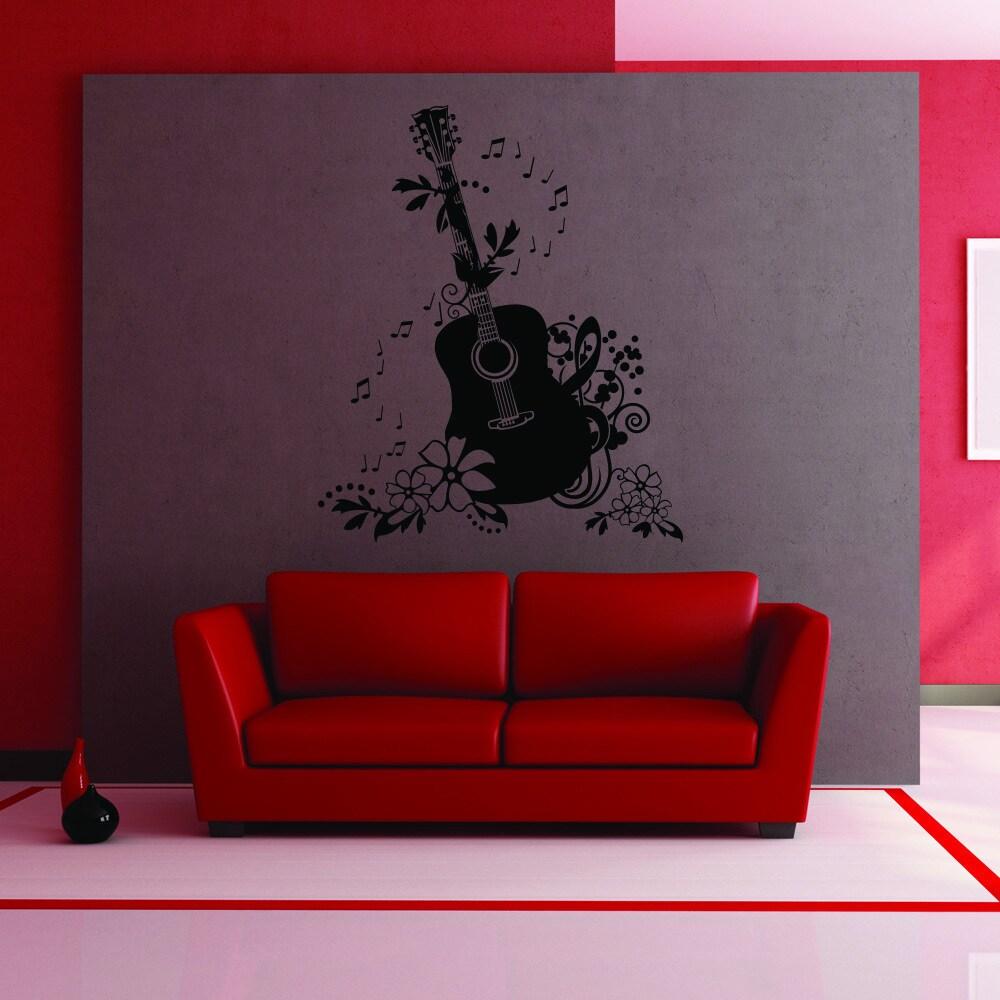 Guitare Ailes Hero Mural Vinyl Decal Sticker Art