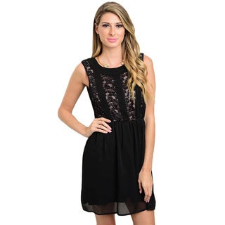 Shop The Trends Women's Sleeveless Lace A-line Dress