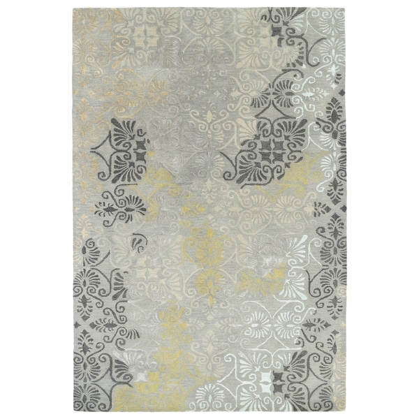 "Hand-Tufted Wool & Viscose Anastasia Grey Rug (3'6"" x 5'6"")"