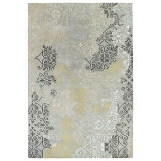 """Hand-Tufted Wool & Viscose Anastasia Grey Rug (3'6"""" x 5'6"""")"""