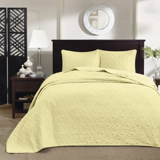 Madison Park Mansfield Yellow 3-piece Bedspread Set