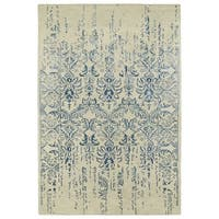 Hand-Tufted Wool & Viscose Anastasia Vanishing Blue Rug - 8' x 11'