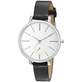 Skagen Women's SKW2435 'Hagen' Black Leather Watch