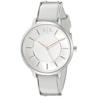 Armani Exchange Women's AX5311 'Olivia' White Leather Watch