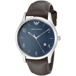 Emporio Armani Men's AR1944 'Dress' Brown Leather Watch