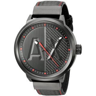 Armani Exchange Men's AX1372 'ATLC' Black Leather Watch