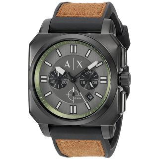 Armani Exchange Men's AX1652 'Takedown' Chronograph Brown Silicone Watch