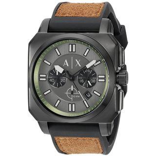 Armani Exchange Men's AX1652 'Takedown' Chronograph Brown Silicone Watch