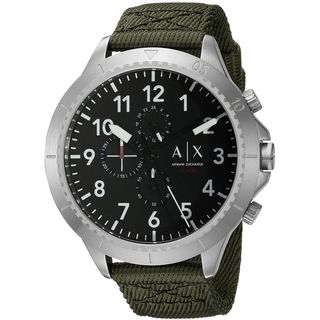 Armani Exchange Men's AX1759 'Aeroracer' Chronograph Green Nylon Watch