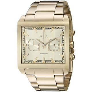 Armani Exchange Men's AX2226 'Tenno' Chronograph Gold-Tone Gold tone stainless steel Watch