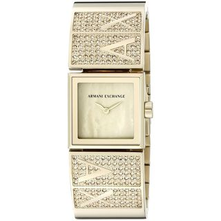 Armani Exchange Women's AX4209 'Laine' Crystal Gold-tone Stainless Steel Watch