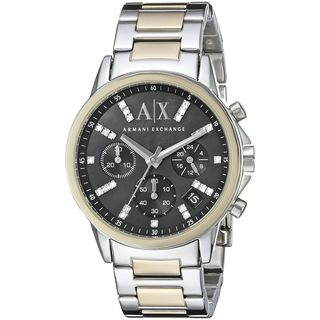 Armani Exchange Women's AX4329 'Lady Banks' Chronograph Crystal Two-Tone Stainless Steel Watch