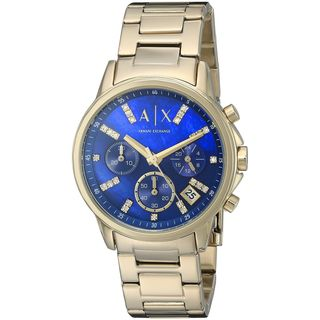Armani Exchange Women's AX4332 'Lady Banks' Chronograph Crystal Gold-tone Stainless Steel Watch