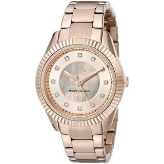 Armani Exchange Women's AX5432 'Dylann' Crystal Rose-Tone Stainless Steel Watch
