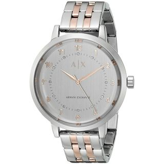 Armani Exchange Women's AX5370 'Payton' Crystal Two-Tone Stainless Steel Watch