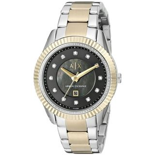 Armani Exchange Women's AX5433 'Dylann' Crystal Two-Tone Stainless Steel Watch