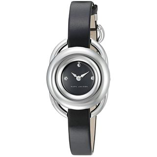 Marc Jacobs Women's MJ1445 'Jerrie' Black Leather Watch