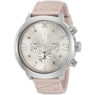 Armani Exchange Men's AX1374 'Street' Chronograph Grey Nylon Watch|https://ak1.ostkcdn.com/images/products/11964719/P18849537.jpg?impolicy=medium