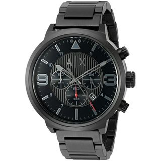 Armani Exchange Men's AX1375 'Street' Chronograph Black Stainless Steel Watch