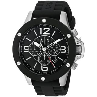 Armani Exchange Men's AX1522 'Street' Chronograph Black Silicone Watch