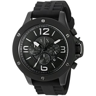 Armani Exchange Men's AX1523 'Street' Chronograph Black Silicone Watch