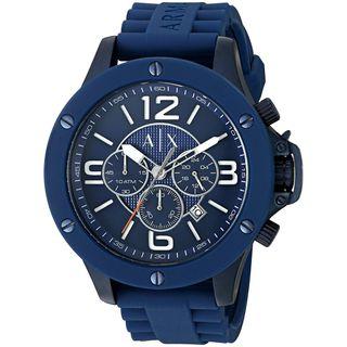 Armani Exchange Men's AX1524 'Street' Chronograph Blue Silicone Watch
