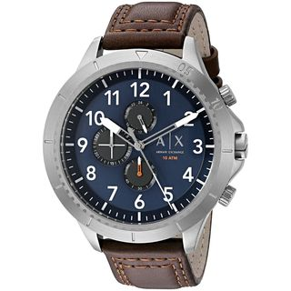 Armani Exchange Men's AX1760 'Active' Chronograph Brown Leather Watch