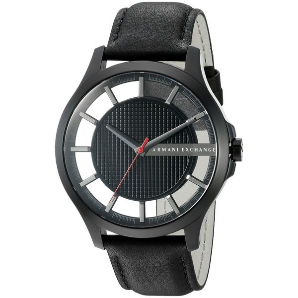 be14ae0b0 Shop Armani Exchange Men s AX2180  Smart  Black Leather Watch - Free  Shipping Today - Overstock - 11964727