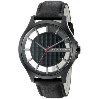 Armani Exchange Men's AX2180 'Smart' Black Leather Watch